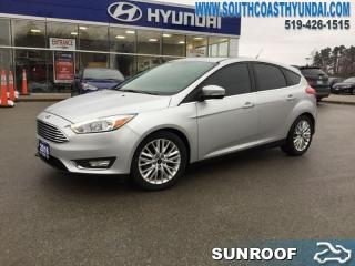 Used 2016 Ford Focus Titanium Hatch  - Leather Seats - $121.01 B/W for sale in Simcoe, ON