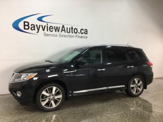 Used 2015 Nissan Pathfinder Platinum - 4WD! 2X DVD! NAV! REVERSE CAM! PANOROOF! BLUETOOTH! LOADED! for sale in Belleville, ON