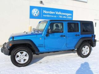 Used 2014 Jeep Wrangler Unlimited SPORT 4X4 - HARD TOP for sale in Edmonton, AB