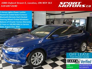Used 2016 Chrysler 200 C LIMITED+Remote Start+Xenon Lights+Camera+Bluetoo for sale in London, ON