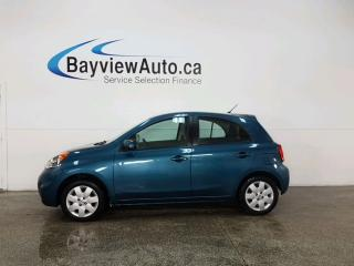 Used 2015 Nissan Micra SV - 5SPD! BLUETOOTH! A/C! CRUISE! PWR GROUP! for sale in Belleville, ON