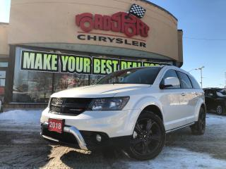 Used 2018 Dodge Journey CROSSROAD AWD, SUNROOF, REAR CAM,NAVI, B-TOOTH for sale in Toronto, ON