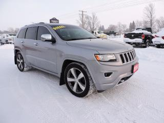 Used 2015 Jeep Grand Cherokee Overland. Leather. Navigation. Air suspension for sale in Gorrie, ON