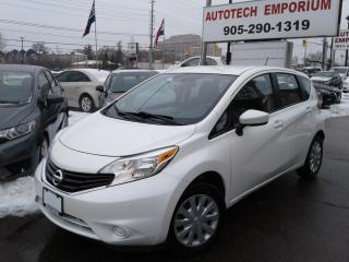 Used 2015 Nissan Versa Note SV Pearl White  Htd Seats/Camera/Btooth&GPS*$39/wkly for sale in Mississauga, ON