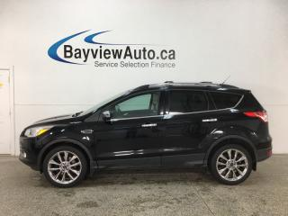 Used 2016 Ford Escape - 4WD! HTD 1/2 LTHR! SYNC! REVERSE CAM! PANOROOF! KEYPAD! for sale in Belleville, ON