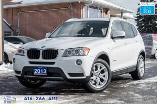 Used 2013 BMW X3 Navi GPS 360* Cam Certified No Accidents Clean for sale in Bolton, ON