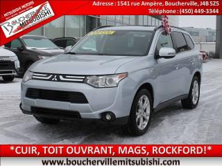 Used 2014 Mitsubishi Outlander Gt Cuir, T.ouvrant for sale in Boucherville, QC