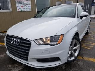 Used 2015 Audi A3 Komfort-1 OWNER OFF LEASE-PWR SUNROOF-LEATHER-BLUE for sale in Tilbury, ON