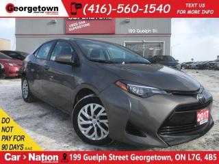 Used 2017 Toyota Corolla LE | B/U CAM | HTD SEATS | USB/AUX IN | BLUETOOTH for sale in Georgetown, ON
