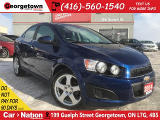 Used 2014 Chevrolet Sonic LT| HEATED SEATS | ALLOYS | CLEAN CARFAX |ONLY 54K for sale in Georgetown, ON