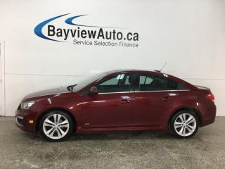 Used 2015 Chevrolet Cruze 2LT - RS! AUTO! HTD LTHR! ONSTAR! REMOTE START! PIONEER SOUND! for sale in Belleville, ON