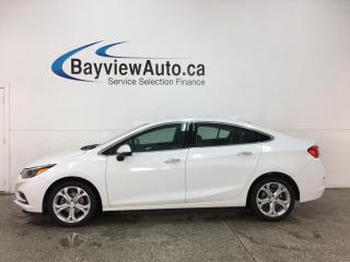 Used 2017 Chevrolet Cruze Premier Auto - ONSTAR! PUSH START! REMOTE START! HTD LTHR! ALLOYS! for sale in Belleville, ON
