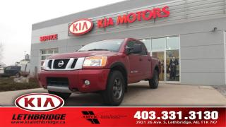 Used 2014 Nissan Titan PRO-4X - CLEAN CARFAX - 5.6 8CYL. - 4X4 - LEATHER INTERIOR for sale in Lethbridge, AB