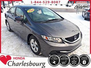 Used 2014 Honda Civic LX MANUEL **BLUETOOTH** for sale in Charlesbourg, QC