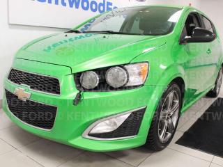 Used 2015 Chevrolet Sonic RS FWD hatch with heated leather seats and a sunroof for sale in Edmonton, AB