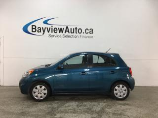 Used 2016 Nissan Micra SV - PUSH START! A/C! CRUISE! BLUETOOTH! for sale in Belleville, ON