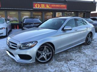 Used 2015 Mercedes-Benz C-Class C300 Awd-Amg-Red for sale in Laval, QC