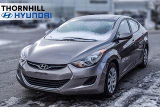 Used 2013 Hyundai Elantra GL  - Power Windows| for sale in Thornhill, ON