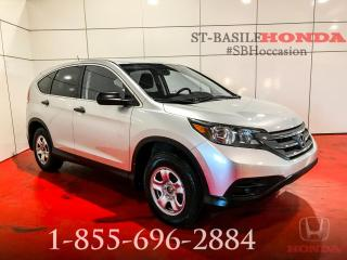 Used 2014 Honda CR-V LX + CAMERA + BLUETOOTH + WOW !!! for sale in St-Basile-le-Grand, QC