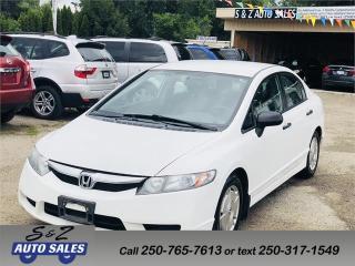Used 2009 Honda Civic DX-G for sale in Kelowna, BC