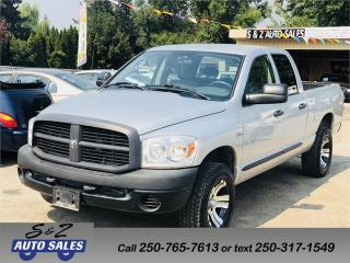 Used 2008 Dodge Ram 1500 ST 4X4 for sale in Kelowna, BC