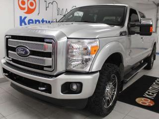 Used 2016 Ford F-350 Super Duty SRW Platinum 4WD, power heated seats, and keyless entry for sale in Edmonton, AB