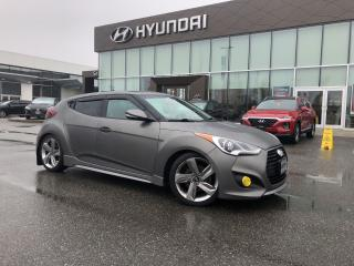 Used 2015 Hyundai Veloster Turbo w/Colour Pack-Leather-Sunroof-Navigation for sale in Port Coquitlam, BC