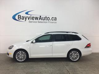 Used 2014 Volkswagen Golf 2.0 TDI Wolfsburg Edition - PANOROOF! HTD LTHR! BLUETOOTH! PUSH START! ALLOYS! for sale in Belleville, ON