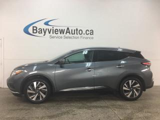 Used 2017 Nissan Murano Platinum - AWD! NISSAN CONNECT! HTD LTHR! BSA! ADAPTIVE CRUISE! for sale in Belleville, ON