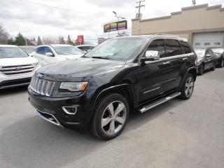 Used 2014 Jeep Grand Cherokee Overland-Cuir-ToitPano-4X4-Navi a vendre for sale in Laval, QC