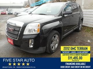 Used 2012 GMC Terrain SLE-2 - Certified w/ 6 Month Warranty for sale in Brantford, ON
