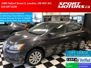 Used 2014 Nissan Sentra S+Bluetootth+Cruise Control+A/C+Rust Proofed for sale in London, ON