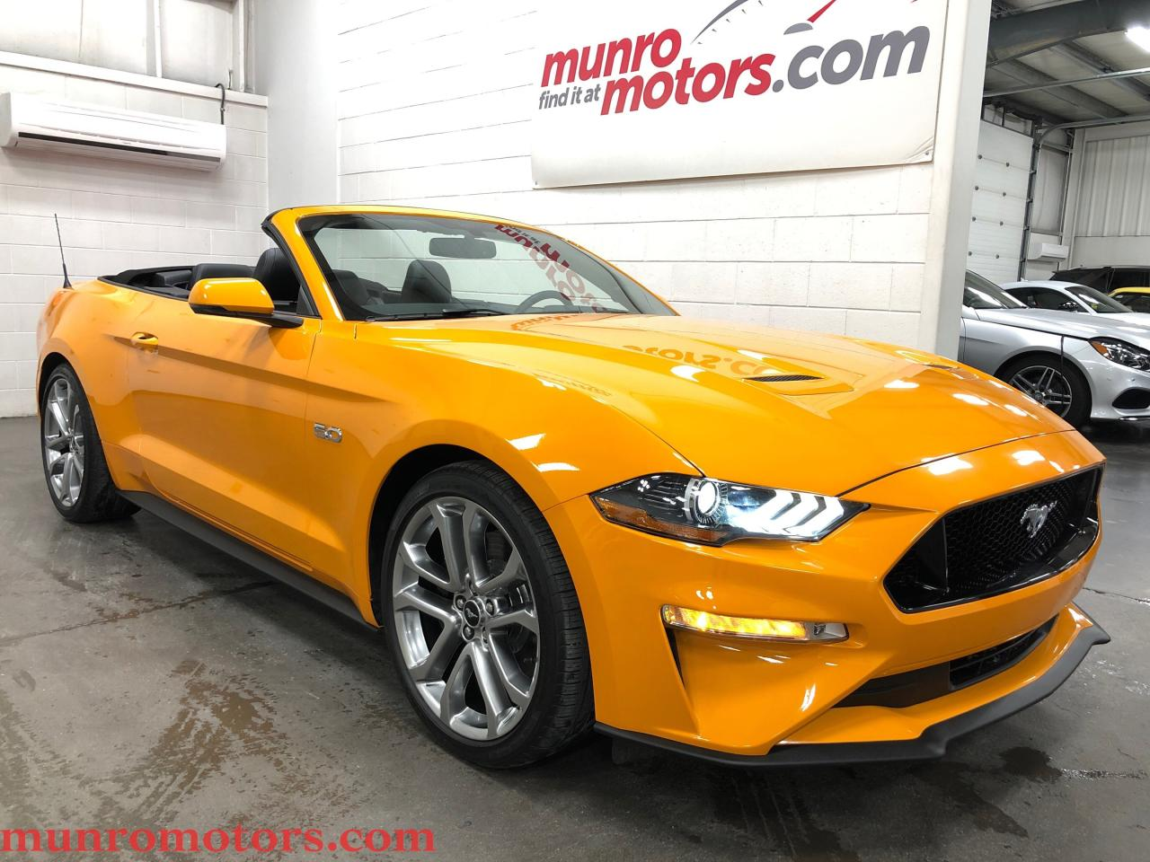 Used 2018 ford mustang gt premium orange fury nav 10 speed auto for sale in st george brant ontario carpages ca