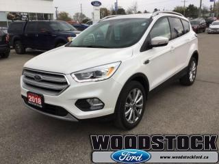 Used 2018 Ford Escape Titanium  - Leather Seats -  Bluetooth for sale in Woodstock, ON