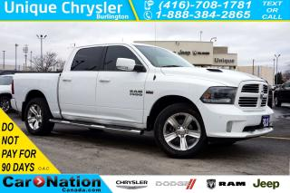 Used 2015 RAM 1500 SPORT| 121L FUEL TANK| TONNEAU COVER| NAV| LEATHER for sale in Burlington, ON