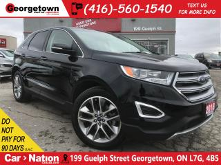Used 2018 Ford Edge Titanium  NAVI   LEATHER   AWD   PANO ROOF 1 OWNER for sale in Georgetown, ON