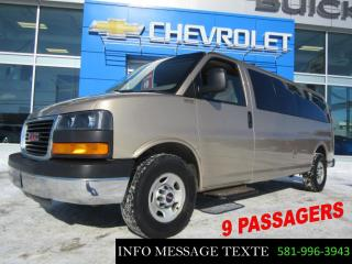 Used 2013 GMC Savana Passenger 9 Passagers for sale in Ste-Marie, QC