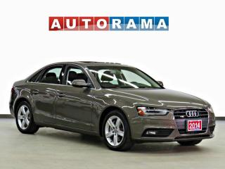 Used 2014 Audi A4 2.0 PROGRESSIV QUATTRO NAVIGATION LEATHER SUNROOF for sale in Toronto, ON