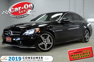 Used 2015 Mercedes-Benz C-Class C400 4MATIC LEATHER NAV PANO ROOF REAR CAM LOADED for sale in Ottawa, ON