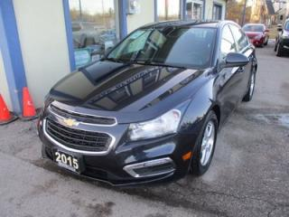 Used 2015 Chevrolet Cruze GREAT VALUE 1-LT MODEL 5 PASSENGER 1.4L - TURBO.. CD/AUX/USB INPUT.. BLUETOOTH.. BACK-UP CAMERA.. KEYLESS ENTRY.. for sale in Bradford, ON