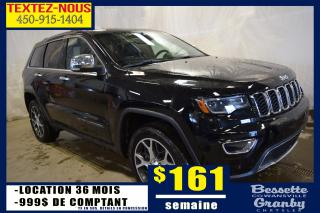 Used 2019 Jeep Grand Cherokee Ltd 4x4 +hitch, Toit for sale in Granby, QC
