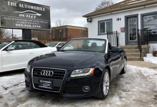 Used 2010 Audi A5 2.0L Cabriolet ONE OWNER CONVERTIBLE NO ACCIDENT for sale in Mississauga, ON