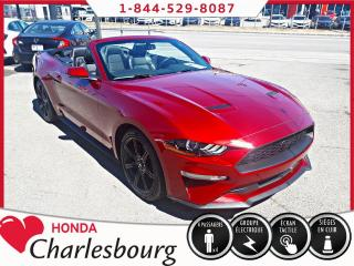 Used 2018 Ford Mustang CONVERTIBLE PREMIUM *CUIR+GRANDE ÉCRAN** for sale in Charlesbourg, QC