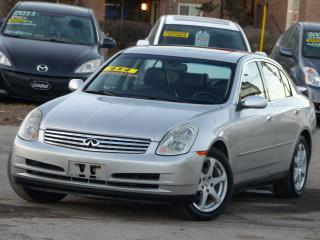Used 2004 Infiniti G35X NAVIGATION,AWD,LOW KMS,DISPLAY SCREEN, NON-SMOKER, for sale in Mississauga, ON