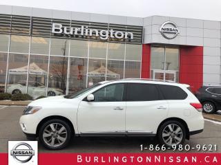 Used 2016 Nissan Pathfinder PLATINUM, ACCIDENT FREE ! for sale in Burlington, ON
