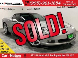 Used 2005 Chevrolet Corvette | NAVI| LEATHER| TARGA TOP| LOW KM'S| for sale in Burlington, ON
