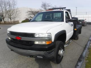 Used 2002 Chevrolet Silverado 3500 9 Foot Flat Deck Regular Cab 2WD Tilt Deck for sale in Burnaby, BC