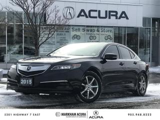 Used 2015 Acura TLX 2.4L P-AWS w/Tech Pkg A/S Tires Avail, Navi, Backup Cam, BSM for sale in Markham, ON