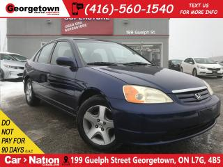 Used 2003 Honda Civic LX|ALLOY WHEELS | YOU CERTIFY YOU SAVE | POWER|A/C for sale in Georgetown, ON