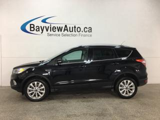 Used 2017 Ford Escape Titanium - 4WD! HTD LTHR! WIFI! SYNC! KEYPAD! NAV! STOP/START ENGINE! for sale in Belleville, ON